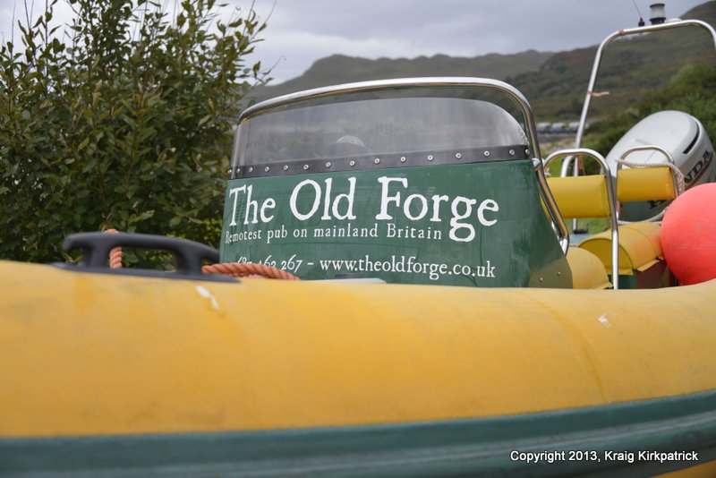 A wee yomp to the remotest pub (the Old Forge) in Great Britain